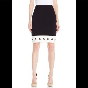 Nine West Color Block Skirt with Grommets